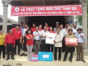 Tặng nhà Chữ thập đỏ cho người nghèo tỉnh Cà Mau