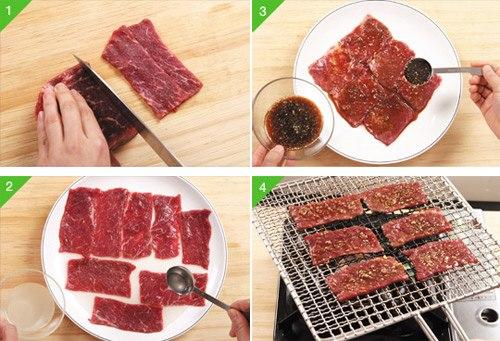 Cách chế biến thịt bò – hướng dẫn làm món thịt bò nướng ngon