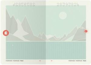 Hộ chiếu mới của Na Uy biến thành bầu trời đêm dưới tia cực tím