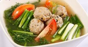 Món canh ốc nấu thìa, thực đơn giảm cân dễ làm