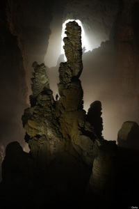 The Hand of Dog stalagmite in Hang Son Doong Cave.