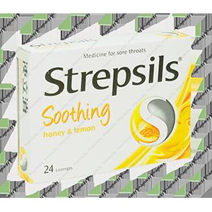 Viên ngậm Strepsils Soothing (Honey Lemon)