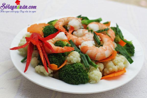 Hướng dẫn làm món bông cải xào tôm ngon bổ dưỡng