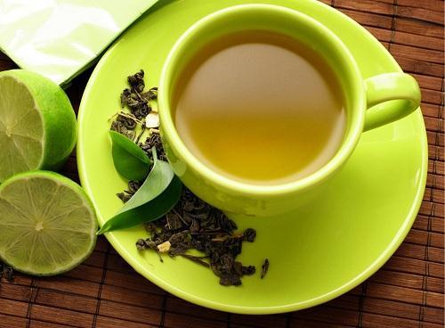 Kết quả hình ảnh cho uống trà xanh với chanh