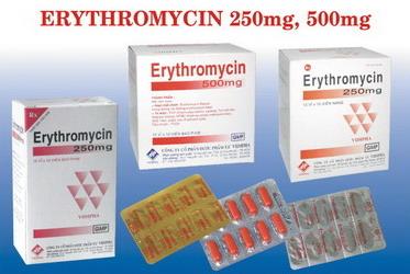 Tác dụng phụ của kháng sinh erythromycin, bạn cần nên biết
