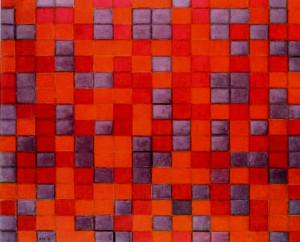piet_mondrian_Composition_Chequerboard_Dark_Colors