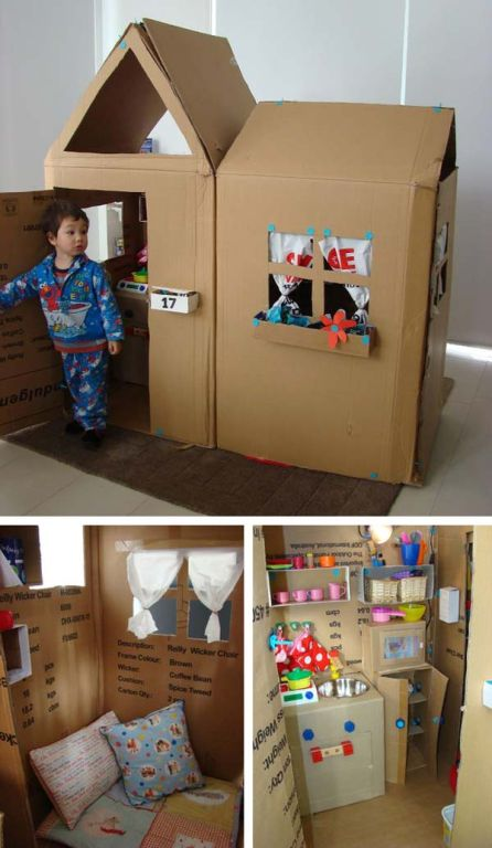 thùng giấy trẻ em đồ chơi