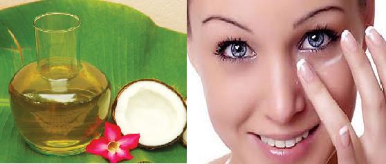 Dùng dầu dừa giúp trị thâm quầng mắt