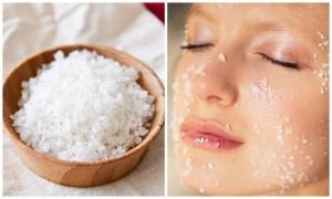 rửa mặt bằng muối