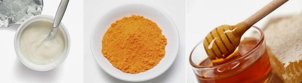 Nghệ kết hợp với sữa chua và mật ong