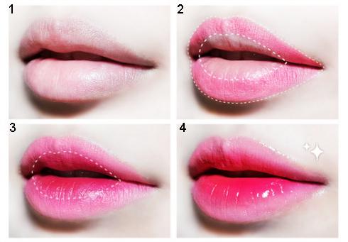 Đánh son môi là bước cuối cùng trong quy trình trang điểm tự nhiên tại nhà
