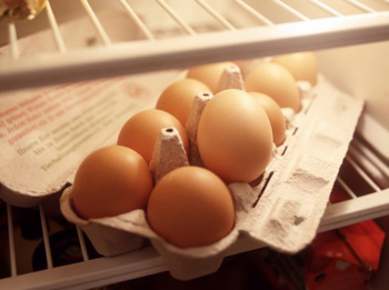 Egg Carton in a fridge