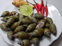 Món ăn dân dã: Ốc cà na rang muối ớt