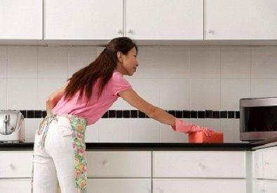 Lau chùi sàn bếp