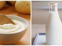 Công thức tắm trắng an toàn từ khoai tây và sữa tươi