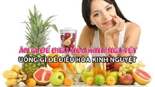 Chế độ ăn uống giúp điều hòa kinh nguyệt