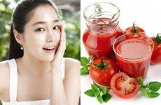 Da trắng sáng, mịn màng nhờ cách làm đẹp da bằng cà chua