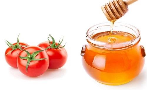 Cà chua và mật ong mang lại hiệu quả chăm sóc làn da