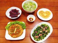 Bữa ăn gia đình luôn phải có rau xanh