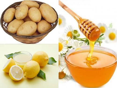 Làm đẹp bằng khoai tây, mật ong và nước cốt chanh