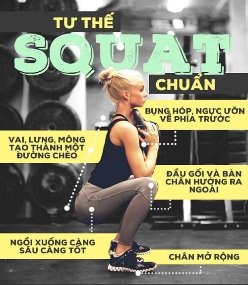 Giảm mỡ bụng tại nhà với bài tập squat