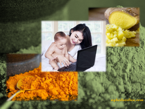 Cách trị rạn da sau sinh bằng nghệ đen với sữa chua không đường