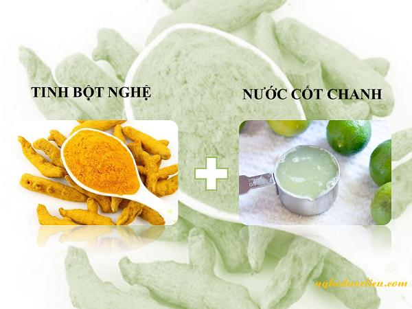 Cách dưỡng trắng da với bột nghệ yến mạch nước cốt chanh