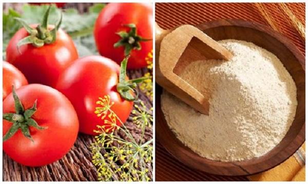 Bí quyết làm trắng da bằng mặt nạ cà chua bột gạo đơn giản tại nhà