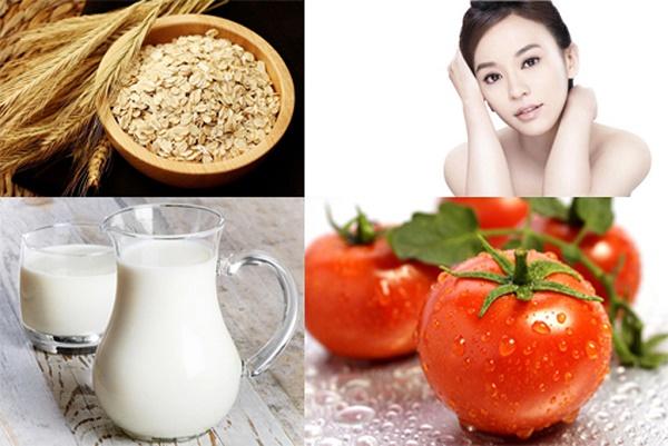 Cách làm trắng da bằng mặt nạ cà chua bột gạo