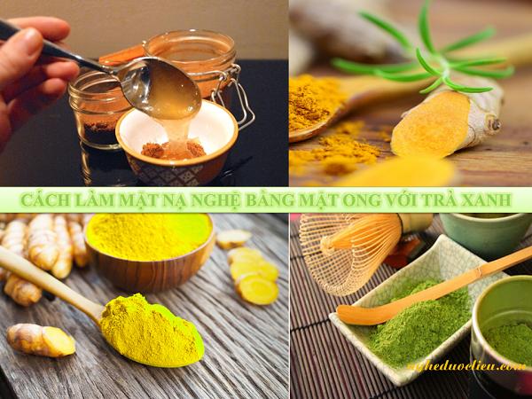 Cách làm mặt nạ nghệ trà xanh mật ong trị nám da an toàn tại nhà