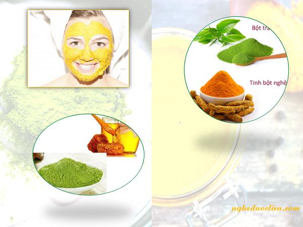 Công dụng khi đắp mặt nạ nghệ trà xanh mật ong