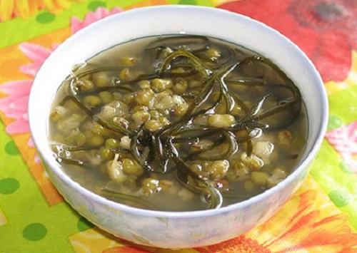 Cách nấu chè đậu xanh rong biển