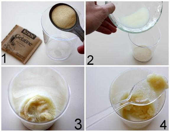 Cách xóa lông mặt tại nhà bằng mặt nạ lá gelatin và sữa tươi không đường