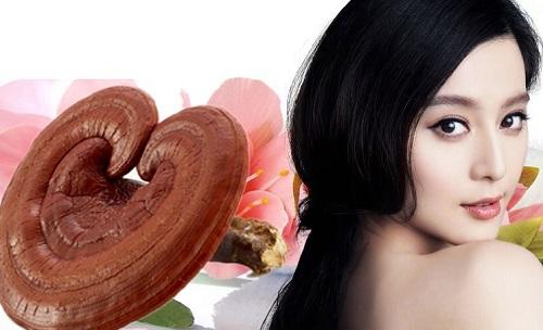 Nấm linh chi đỏ có công dụng chăm sóc sắc đẹp làn da