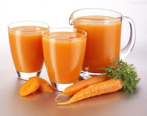 Tác dụng của nước ép cà rốt