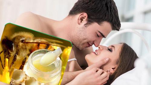 Tăng cường sinh lý nam giới bằng sữa ong chúa