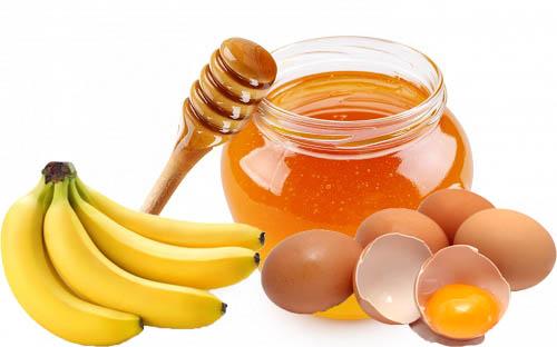 Trị rụng tóc bằng mật ong, chuối và trứng gà