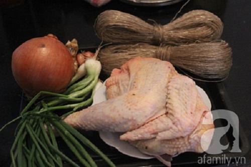 Cách nấu canh miến gà