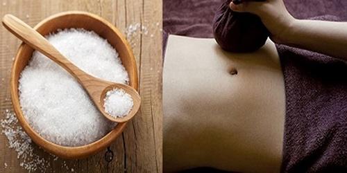 Massage bằng muối giúp giảm mỡ bụng