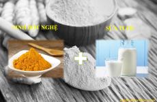 Tuyệt chiêu làm đẹp từ tinh bột nghệ kết hợp với sữa tươi an toàn độc đáo