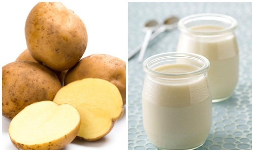 Cách làm trắng da với mặt nạ khoai tây và sữa chua