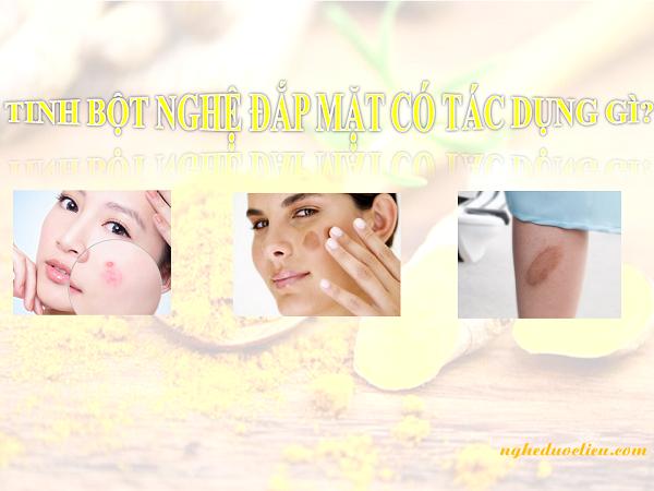 Tinh bột nghệ đắp mặt có tác dụng gì cho liệu trình chăm sóc da