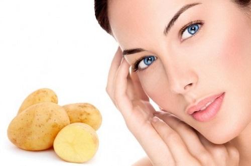 Trị quầng thâm mắt bằng khoai tây