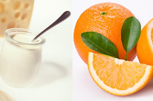 Làm đẹp da bằng sữa chua và vỏ cam
