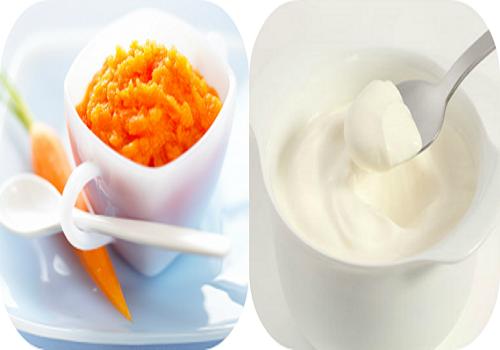 Làm đẹp da bằng sữa chua cà rốt