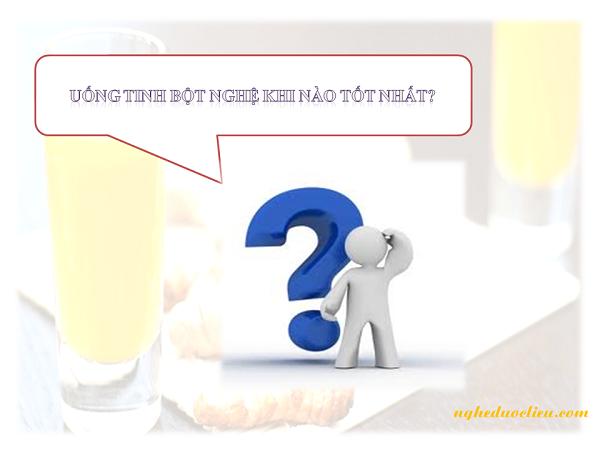 Uống tinh bột nghệ vào thời gian nào sẽ tốt nhất?