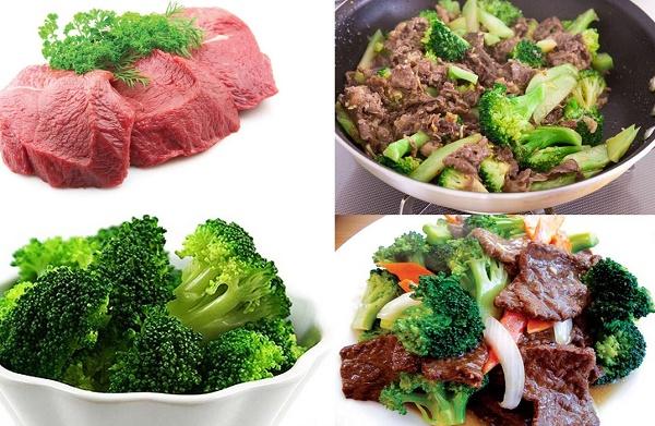 Món ăn tăng cường sinh lý phái mạnh - Súp lơ xanh xào thịt bò