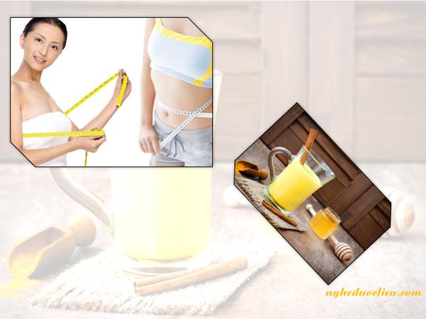 Cách uống tinh bột nghệ vàng mật ong để giảm cân