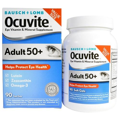 Thuốc bổ mắt dành cho người già Baush + Lomb Ocuvite 50+