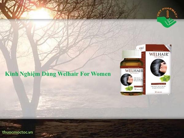 Kinh nghiệm dùng Welhair For Women giúp tóc mọc nhanh cho nữ